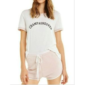 NWT Wildfox Champagneover Johnny Ringer Tee S